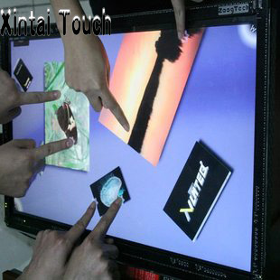 Xintai Touch 2015 new product fashion appearance 46 4 points multi IR touch screen panel for Training institutions