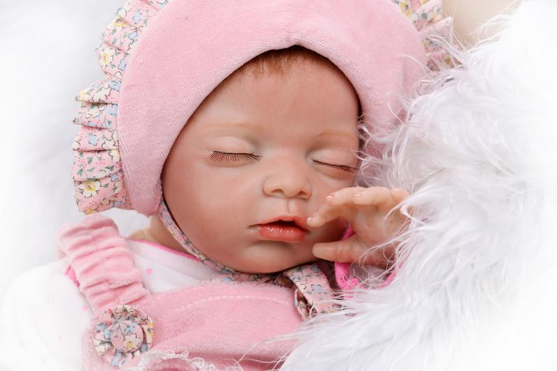 New silicone reborn sleeping baby dolls accompany training play house lifelike doll kid cute christmas new year gifts collection yehuda shinar think like a winner
