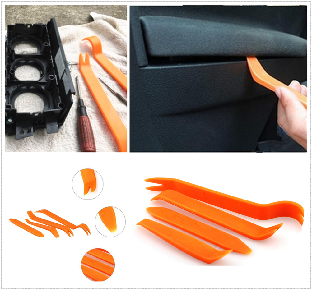 4Pcs car audio door clip panel removal tool accessories for Kia Forte Ceed Stonic Stinger Rio Picanto Niro