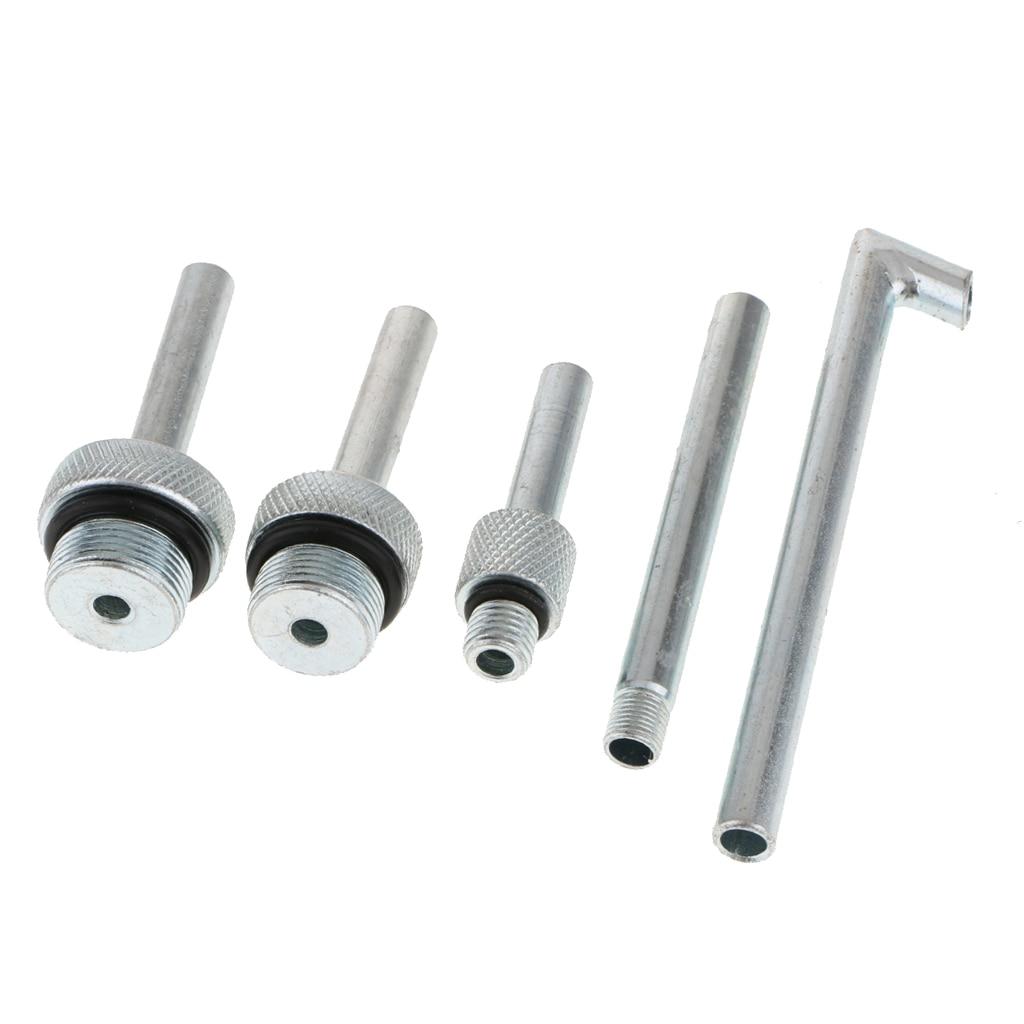 4 pezzi//set Adattatore per cambio olio per cambio olio fluido trasmissione auto in lega di alluminio DSG 01J 09G CVT Adattatore per riempimento olio