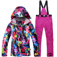 High quality 30 Ski Jacket Open For Women Ski Suits Ski Jacket and Trousers Snowboarding Suits of Coat Waterproof Windproof