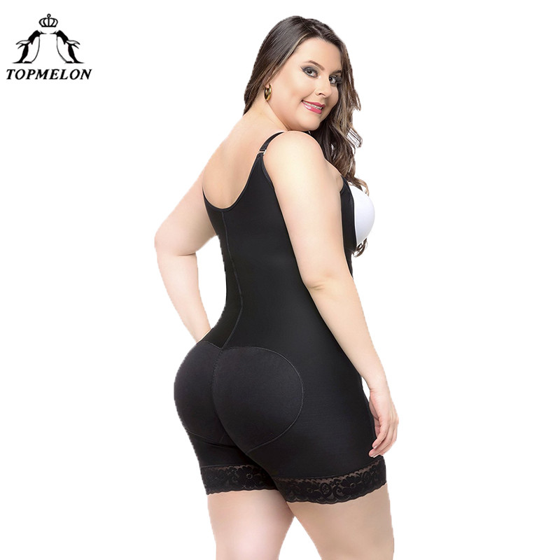 10317d15362d6 TOPMELON Women Sexy Body Shaper Butt Lifter Underwear Slimming Bodysuits  Plus Big Size High Compression Push Hip Up Shapewear-in Bodysuits from  Underwear ...