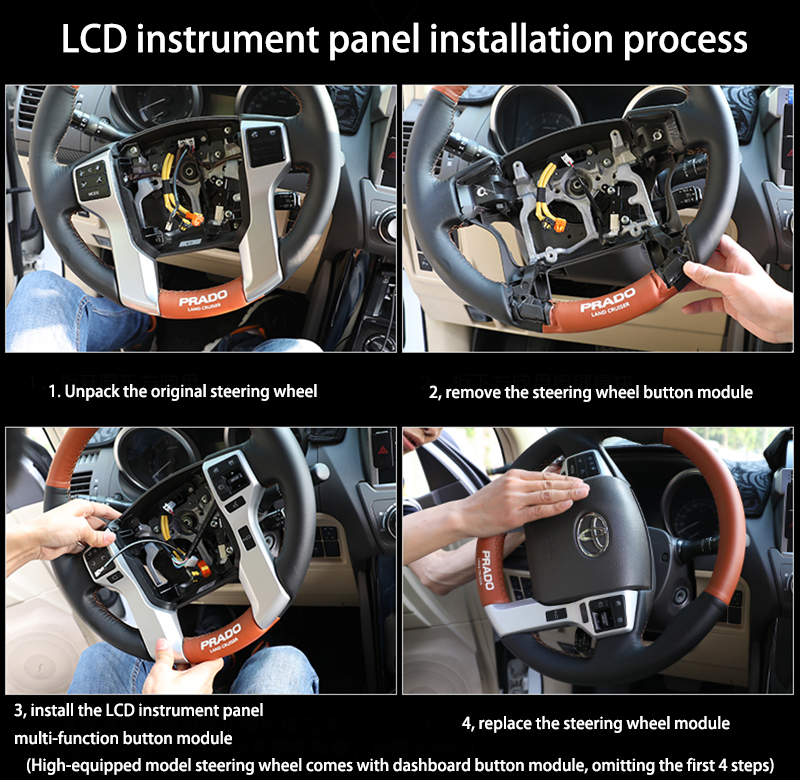 LiisLee Android Instrument Panel Replacement Dashboard Entertainment System for Toyota Land Cruiser Prado J150 LC150 2009~2018 (5)
