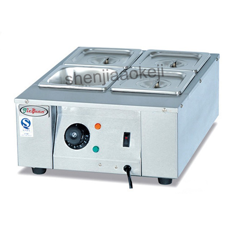 EH-24 Commercial 4 Lattices Chocolate melting pots Chocolate melting machine 4 grid chocolate melting oven 220v 1500w 1pc fast shipping food machine digital chocolate melting machine stainless steel chocolate machine household and commercial