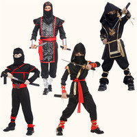 Kids Ninja Costumes Halloween Party Boys Girls Warrior Stealth Children Adult Cosplay Assassin Costume Children S