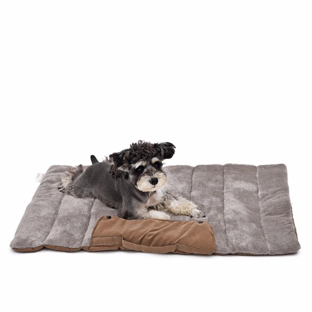 Mascota fácil y cómodo de llevar almacenamiento plegable perros mascotas tapete para viaje gato perro cama cachorro suave cojín para animales perro gato