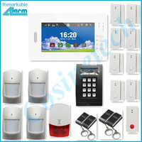 Brand New Smart APP 7 Inch Touch Screen GSM Alarm System Home Security Alarm System Kit