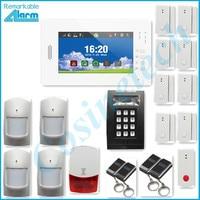 Hot selling smart APP home security GSM alarm system kit PIR sensor, strobe siren,external LED keypad,panic button alarm panel
