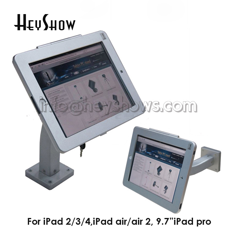 Tablet Security Holder Lock Display Stand Wall Mount Case Bracket Anti-Theft Device iPad2/3/4 With Lockable Metal Case And KeyTablet Security Holder Lock Display Stand Wall Mount Case Bracket Anti-Theft Device iPad2/3/4 With Lockable Metal Case And Key