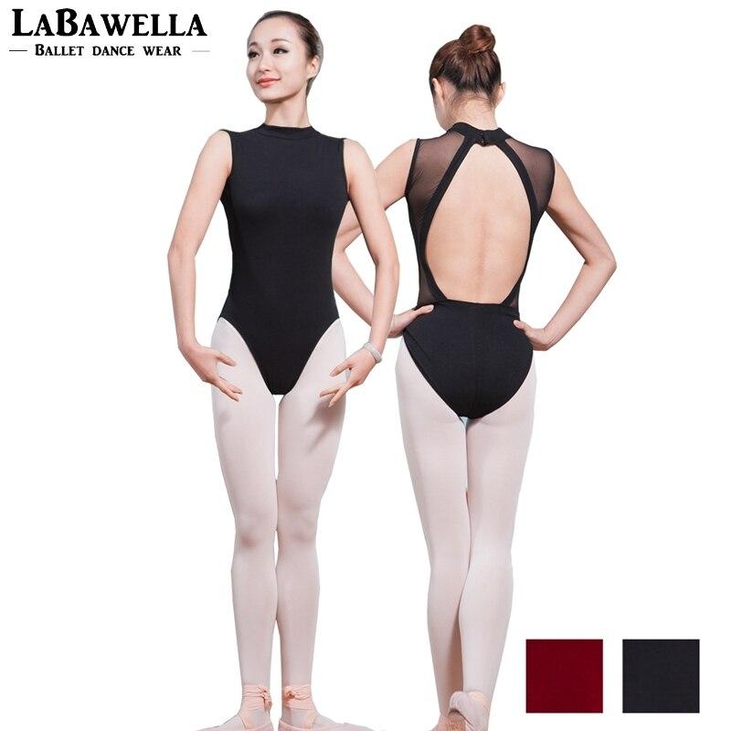 ladies-black-dance-practicing-dance-gymnastics-costume-women-mock-turtleneck-plunging-powermesh-back-font-b-ballet-b-font-leotards-sale-cs0180