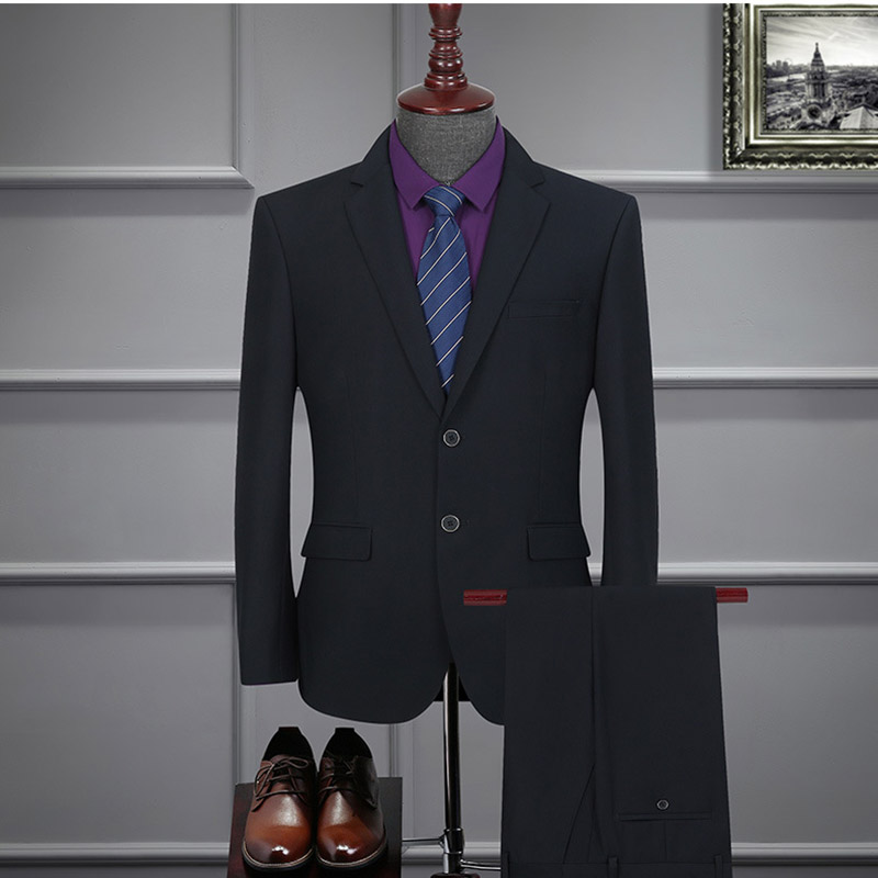 Sensfun Man Suit Blazers Jacket And Pant Suit Silm Style Casual Business Formal Masculion Two Buttons For Groom Wedding Party