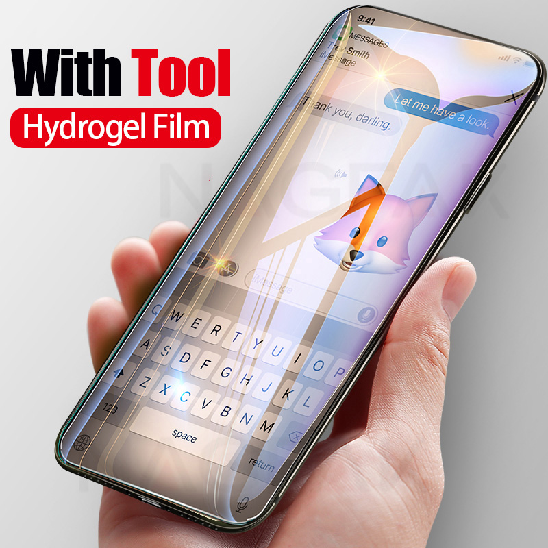 5D Full Protecting Comfortable Hydrogel Movie For Samsung Galaxy S9 S8 Plus Word eight 9 Cowl Display Protector Movie S6 S7 Edge Not Glass