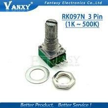 5 шт. RK097N 5 к 10 к 20 к 50 к 100 к 500 к B5K с переключателем аудио 3pin вал 15 мм усилитель потенциометра уплотнения