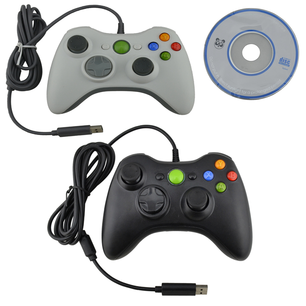 Contrôleur de jeu de manette USB 50 pcs pour PC 360 Joystick compatible pour xbox 360 PC