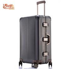 e818261ade 100% fully Aluminum-magnesium alloy travel suitcase 20 25 inch ladies luggage  suitcase man crash proof trolley