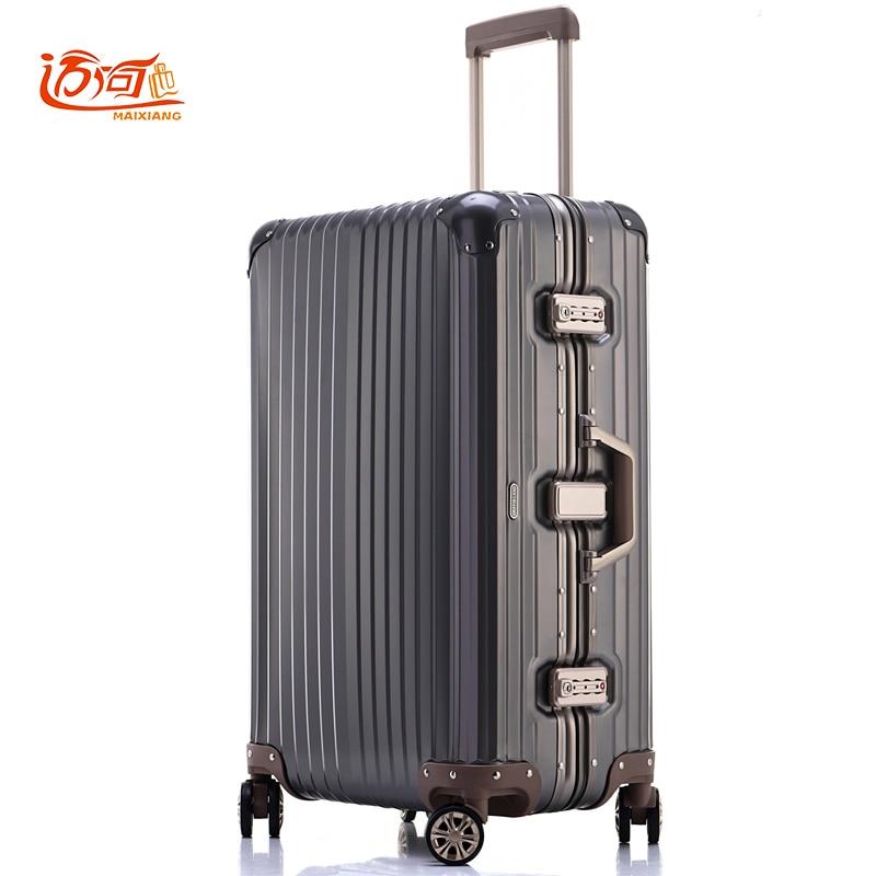 100% Voll Aluminium-magnesium-legierung Reise-koffer 20/25 Inch Damen Gepäck Koffer Mann Sturzsicher Trolley Die Nieren NäHren Und Rheuma Lindern