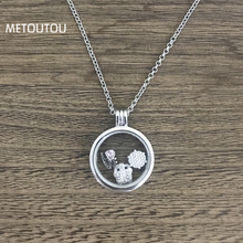 Фотография New my coins necklace Deluxe Clear for 23mm Frame Pendant My Coin European necklace with women party Jewelry 55cm  XL050D