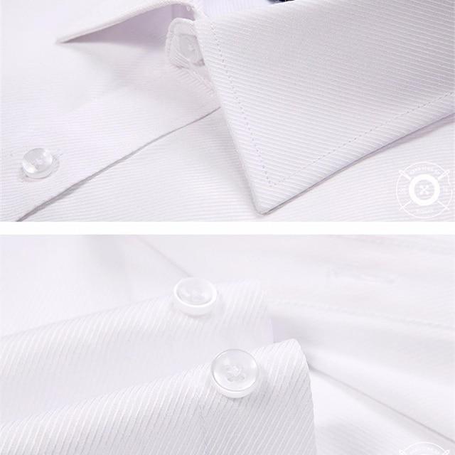 2019 Men Dress Shirt Long Sleeve Slim Brand Man Shirts Designer High Quality Solid Male Clothing Fit Business Shirts 4XL YN045 5