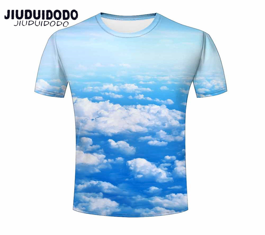 55196775bcf1 Mens Summer t shirt Fashion Funny Skull Blue Water droplets Sky Pink  Flamingo Animal Feather 3D Printing Clothing Tee Shirt M373-in T-Shirts  from Men s ...
