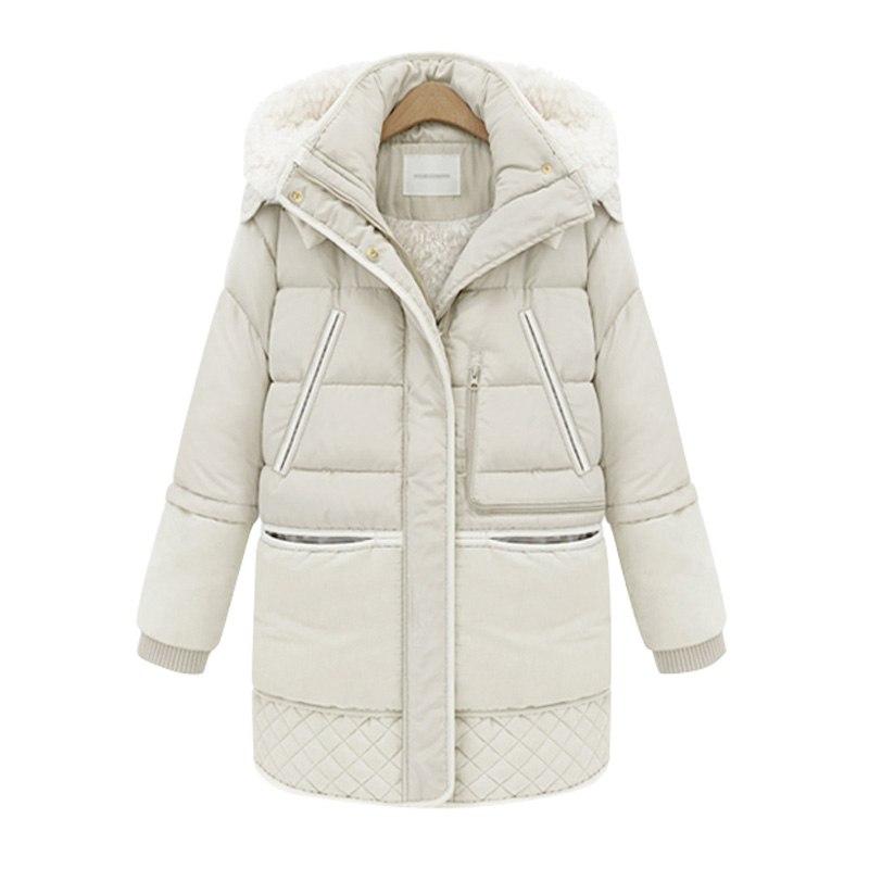 2018 New Women   Down     Coat   Big Size Lady White Duck   Down   Jacket Hooded   Coats   Thicked Winter Add Lambswool Jackets Outerwear WZ542
