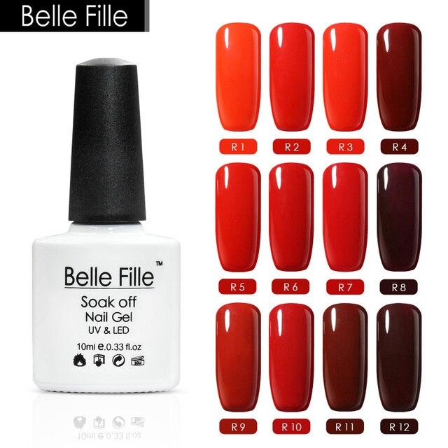Belle Fille 10ml Red Gel Polish Vernis Gel UV Color Coral Laterite ...