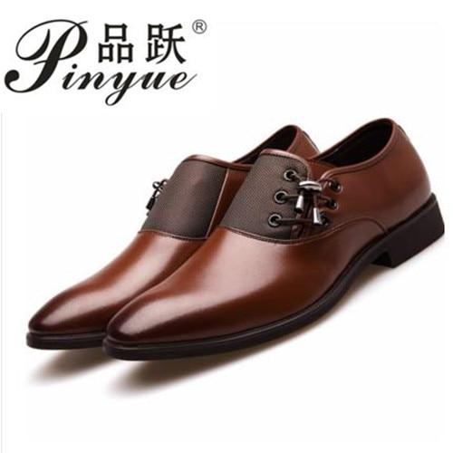 Big Size 38-47 Men Wedding Dress Shoes Black Brown Oxford Shoes Formal Office Business British Lace-up Mens Footwear