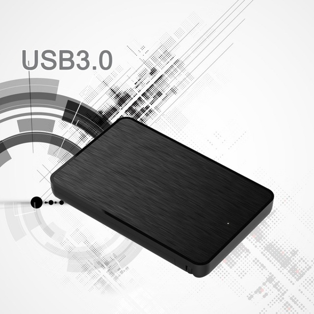 Portable Blueendless hard disk boxes 2.5inch* high speed USB 3.1 to SATA III HDD cases Type-C hdd enclosures with Type-c Cable