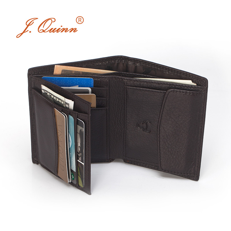 J.Quinn 2017 Mens Leather Wallets Small Thin Coin Purse Wallet 10 Card Holder Genuine Cow Male Short Wallets for Men Bifold New baellerry small mens wallets vintage dull polish short dollar price male cards purse mini leather men wallet carteira masculina
