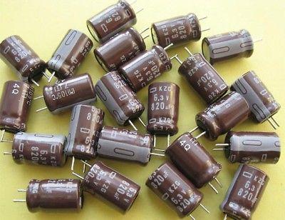 50 pcs Nippon 6.3V 820UF Electrolytic Capacitor 105C 10pcs radial electrolytic capacitor 400v 120uf 105c