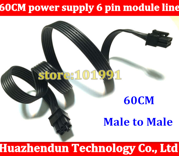 DHL/ EMS Free ship 100pcs High Cable 6Pin Male to 6 Pin Male PCI-E GPU Power Cable 1007 18AWG Refined Wire For video card dhl ems 4 sets genuine for cis co cab spwr 150cm stacking power cable for for cis co 3750x switch