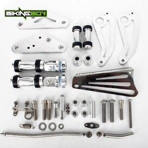 Image 4 - BIKINGBOY Aluminium CNC Billet Fußrasten Vorwärts Steuert für YAMAHA XVS1100 XVS 1100 V STAR VSTAR 99 17 16 15 14 13 12 11 10 09