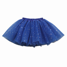 2-9Ys Kids Girl Star Glitter Dance Tutu Skirt Children Sapphire Blue Princess Party Dance Ballet Tutus Skirts Pettiskirts недорого