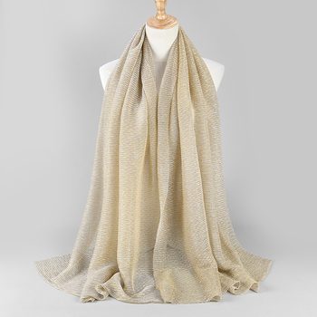 NEW shimmer pleated hijab scarf  4