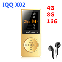 Original IQQ X02 MP4 Player 8GB Speaker 1 8 Inch Screen Play 80 Hours Voice Recorder