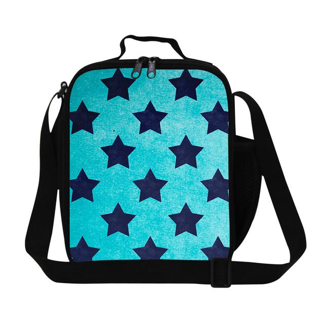 Dispalang Pequeño bolso Más Fresco del Almuerzo para las mujeres, estrella contenedor almuerzo térmica bolsas de almuerzo para los niños caja de almuerzo del bolso de hombro con correas