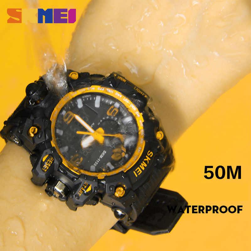 ... SKMEI Relogio Masculino для мужчин кварцевые цифровые часы 2 время  Военная Униформа армии спортивные часы водостойкие ... e5311336435ec