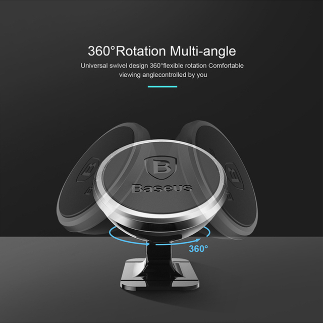 Universal Convenient Rotating Magnetic Car Phone Holder