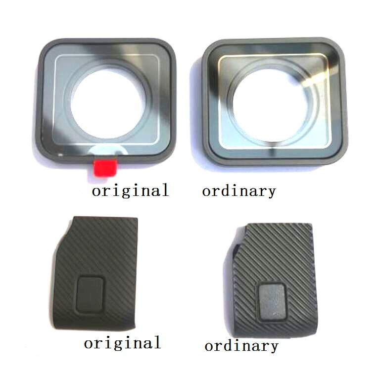 Original Accessories For GoPro Hero 7 6 5 4 Black Sports Camera Front Door Faceplate UV Filter Glass Lens USB Cap Battery Cover