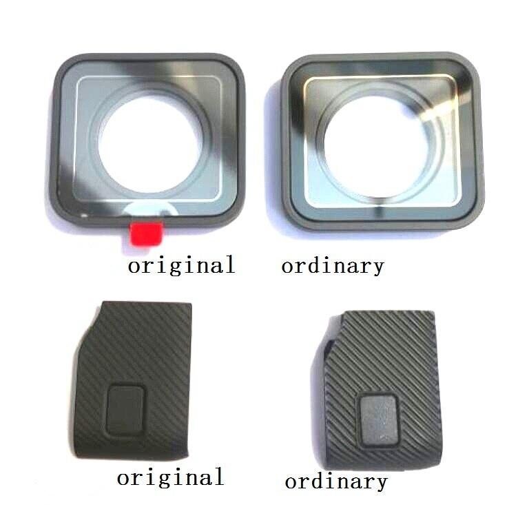 Оригинальные аксессуары для GoPro Hero 7 6 5 4 Черная Спортивная камера Передняя дверь/Лицевая панель/УФ-фильтр стеклянная линза/USB Крышка батарей...