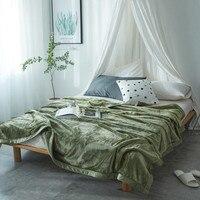 Winter Velvet Mink Blanket for Adult Soft Plush Fleece Blanket Solid 350G Thicker Blankets on Sofa/Bed Throw Queen King Blanket