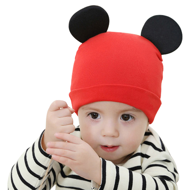 dfb18917 Solid Ear Child Baby Hat On Spring Boys Girls Caps Kids Cotton Knitted Baby  Beanies Newborn Accessories Newborn Girls Infant Hat