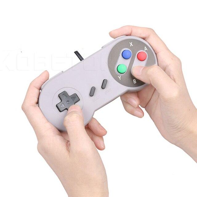 цены  2017 Super Game Controller Classic Retro USB GamePad Controller Joypad Joystick for Super Nintendo SF for SNES Windows PC MAC
