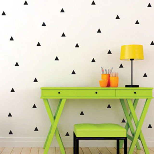 Triangle Wall Stickers Vinyl Decals Geometric Patterns Modern Wall Art  Decoration Fashion Home Decor