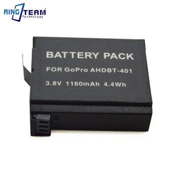 Wholesale 50pcs/Lot New Digital Battery AHDBT-401 AHDBT 401 AHDBT401 for GoPro HERO4 Hero 4 Action Cameras