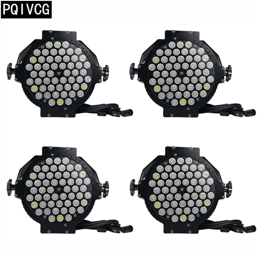 4pcs/54x3w RGBW 4in1 led par lights dmx512 led full color par lights professional dj equipment 2pcs lot rgbw 4in1 18x12w led par full color disco lights dmx512 par led professional dj equipment dye with power in power out