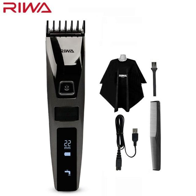 を Riwa K3 USB プロバリカン Usb ケーブル充電式防水男性の毛のトリマー機コードレス Lcd ディスプレイ