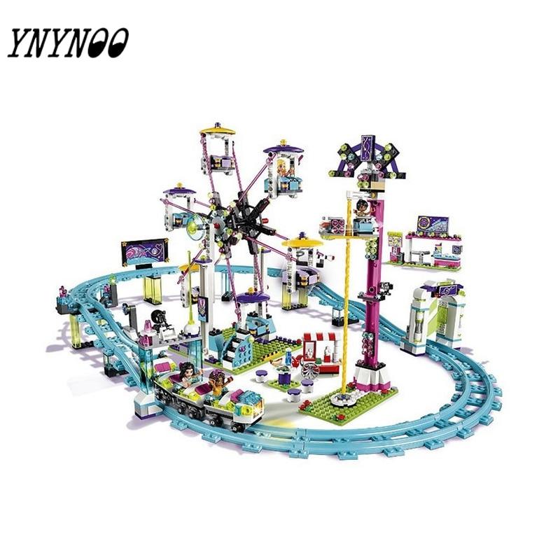 (YNYNOO) 01008 Model building kits compatible with city girls friend Amusement Park 3D blocks Educational model building toy 7 новогодний подарок своими руками