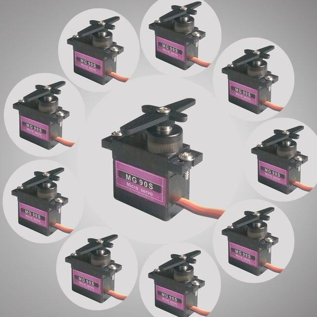 10pcs Micro 9g RC Servo Metal Gear For Arduino robot Align Trex 450 RC Helicopter Airplane