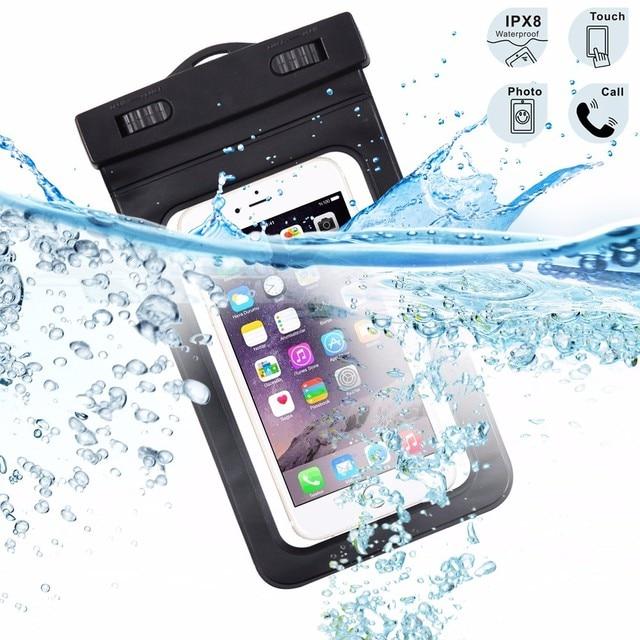 ユニバーサル防水coqueケースiphone用6 5 s seサムスン銀河s6 s7 j5 s5ケースカバー泳ぐ防水バッグ電話ポーチ