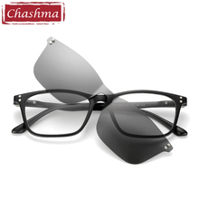 Chashma Brand TR90 Flexible Eyewear Women Clips Polarized Lenses Magnet Men Mirror Sunglasses Optical Glasses Frames